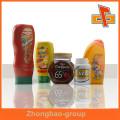 Made in China customiz etiquetas autoadesivas, etiquetas adesivas para garrafas de plástico, etiquetas para garrafas de vidro, garrafa de plástico adesivo