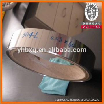 Bobina de acero inoxidable de 304L precio directo de la fábrica para el conducto