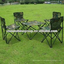 Fashion, confortable et pliable camping ensemble pour la randonnée