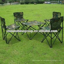 Moda, confortável, dobrável acampamento conjunto para caminhadas