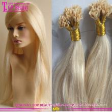 Venda quente dica cabelo extensões 100% russa remy pre-ligada do cabelo extensão U ponta em u