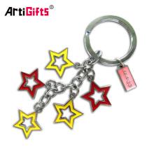 Personalizar metal spinner letra r estrella flor keychain proyector para niños
