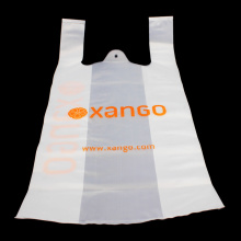 Gusset Food Delivery T Shirt Plastic Bag