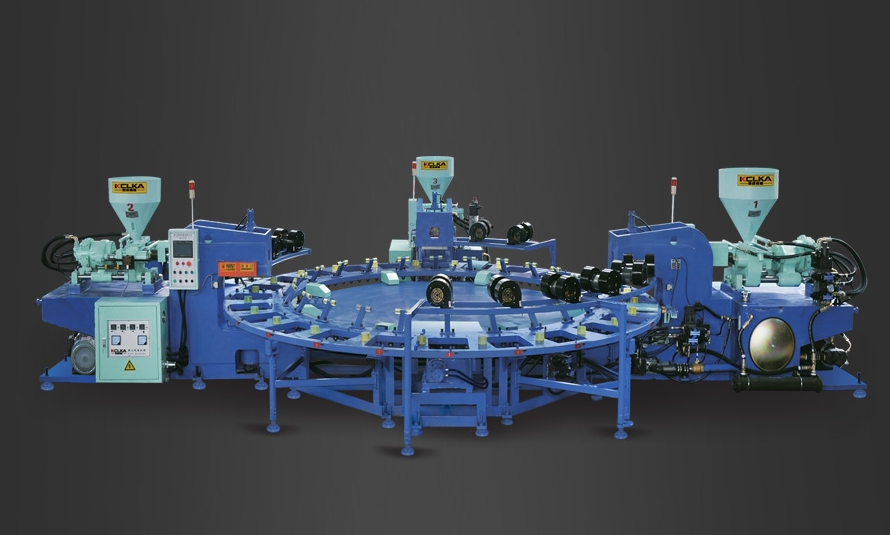 Three-Color Upper Molding Machine
