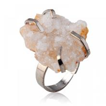 Natural Drusy Crystal Adjustable Women Rings