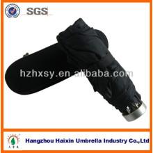 Promocionales paraguas plegable 5 con caja plástica, delicado regalo paraguas