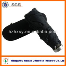 Promotional 5 Folding Umbrella With Plastic Box/Delicate Gift Umbrella