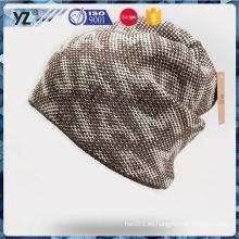 Mejor venta de buena calidad de pantalla impresa sombreros de punto de China al por mayor