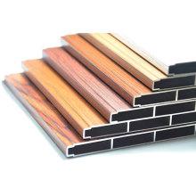 Cor de madeira, seção de alumínio Perfil de construção de alumínio
