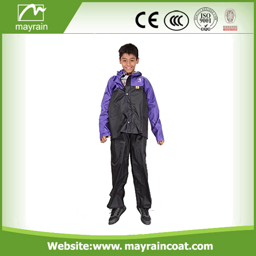 Polyester Black Blue Red Rainsuits
