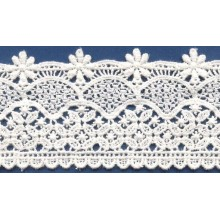 Newest Cotton chemical lace Fabric crochet lace edging for simple wedding dress