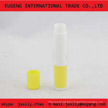 slim plastic mini lip balm tube