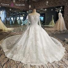 LS00112 cuentas de cristal modesta más reciente patrones de vestimenta occidental para damas de bodas vestidos largos con mangas largas satén boda dresse