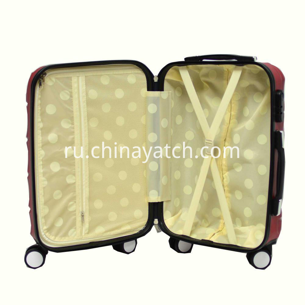 ABS Luggage Set with Fashion Grain and Double Row Wheels