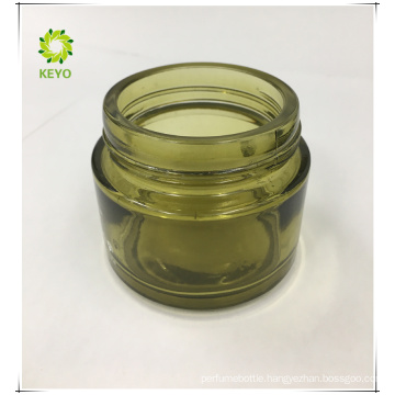 Frosted green glass cosmetic jar 100g 20g 50g cosmetic cream container