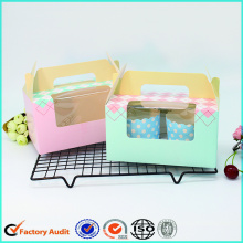 Custom Printed Luxury Cardboard Cupcake Box