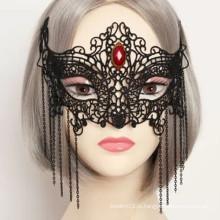 Natal, femininas, Partido, bonito, rosto, máscara