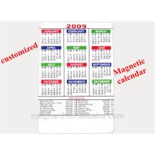 China factory directly OEM dry erase magnetic calendar fridge magnet for 2016