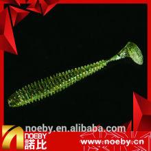NOEBY isca 12 cv de dupla cor de plástico macio isca de pesca de mar