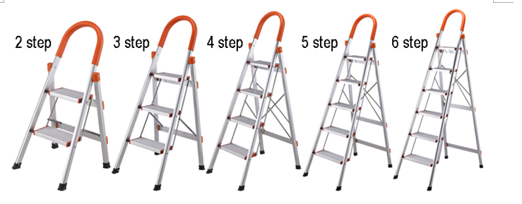 D type 5 steps household ladder