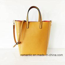 Moda Leisure Style Lady PU Leather Tote Handbags (NMDK-051703)
