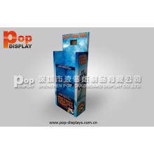 Recyclable Lcd Cardboard Display Stands With Cartoon Frame For Market Promotion