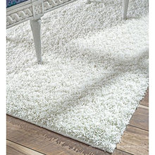 Tapis de tapis shaggy anti-dérapant en polyester avec TPR