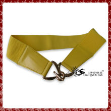 New arrival yellow elastical belt,costume jewelry belt