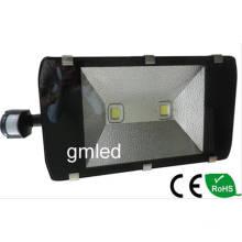Schwarz 200W LED Strahler mit PIR-Sensor