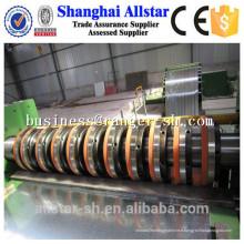 machine de refendage bobine en aluminium