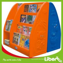 Modernes hochwertiges weißes Display bookself für Wände auf Verkauf, Kinderspielzeug-Aufbewahrungsschrank LE.SJ.001