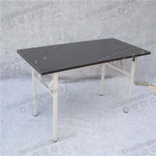 Черный стол с меламином для конференций с серебряными ножками для стола (YC-T06-03)