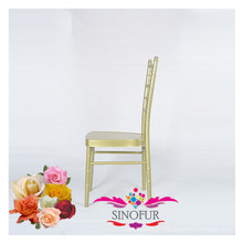 Chaise de mariage en plein air chaise en tiffany en aluminium