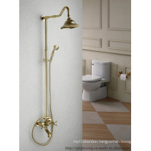 Golden Plated Bathroom Bath Faucet (MG-7375)