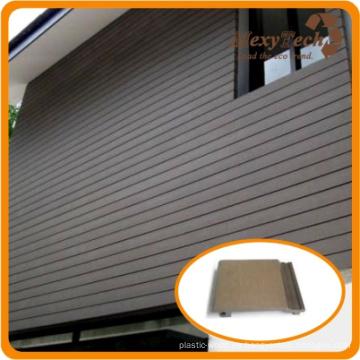 UV resistencia WPC revestimiento de la pared al aire libre con 10 años de garantía
