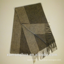 stripe grey color wool scarf for winter