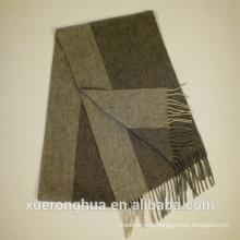 lenço de lã de cor cinza para inverno