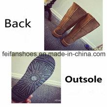 Haut tube nouvelles bottes de neige d'arrivée fille bottes occasionnels de chaussures