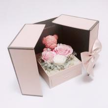 Caja de empaquetado al por mayor de la flor de papel de la cartulina