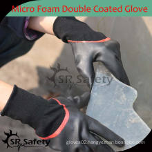SRSAFETY 15 gauge Knitted Double Coated Nitrile safety working gloves