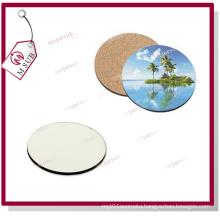 Customized Printed Sublimation Wood Coaster Round Size
