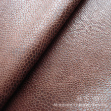 Foil Print Bronzed Suede Leather Fabric 100% Polyester for Sofa