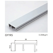 Perfil de aluminio anodizado para guardarropa
