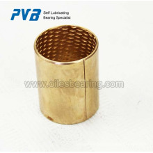 El casquillo cilíndrico, los cojinetes son de paredes delgadas, piezas laminadas CuSn8 buje