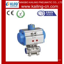 Actionneur pneumatique / électrovanne à bille / vanne à bille en acier inox pneumatique
