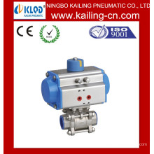 Atuador pneumático / válvula de esfera solenóide / Pneumatic Stainless Steel Ball Valve