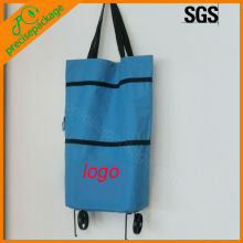 high quality oxford cloth foldable bag with wheels