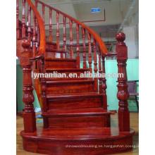Barandilla de roble rojo antiguo balaustrada de madera tallada
