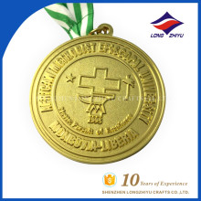Großhandel Universität Emblem Metall Gold Custom Medal