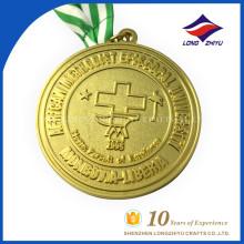 Atacado University Emblem Metal Gold Custom Medal